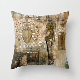 Be Here Now Throw Pillow