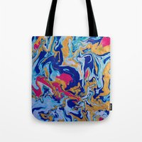 fringe Tote Bags featuring fringe by Glint & Lime Art