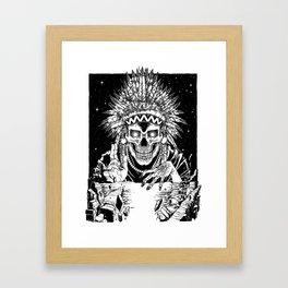INVASION - Black and white variant Framed Art Print