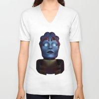 mass effect V-neck T-shirts featuring Mass Effect: Samara by Ruthie Hammerschlag