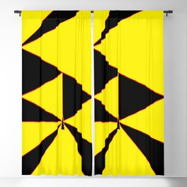 Triangles Yellow Black and Red Blackout Curtain