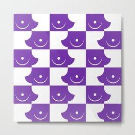 Streapchess_06 | Purple and White Metal Print