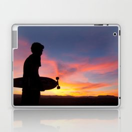 Longboard Silhouette Laptop & iPad Skin