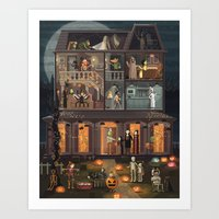 Scene #10: 'The pumpkin costume' Art Print