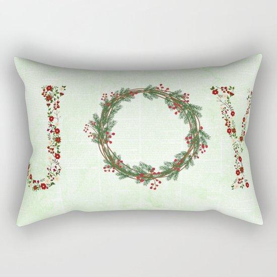 Joy Wreath #3 Rectangular Pillow