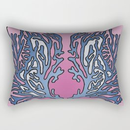Coral Pattern - Alpine Sunset Colour Scheme Rectangular Pillow
