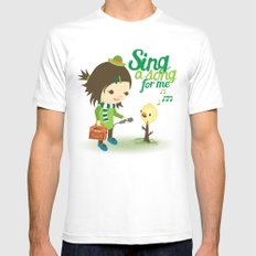 Balloon Tree Song MEDIUM White Mens Fitted Tee