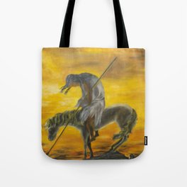 Indian on a horse Tote Bag