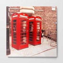 Red phone boxes Metal Print