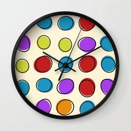 vintage fantasy handmade circles Wall Clock