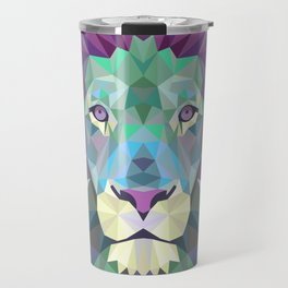 Colorful Lion Travel Mug