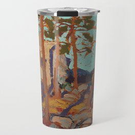 Tom Thomson - Pine Cleft Rocks - Canada, Canadian Oil Painting - Group of Seven Travel Mug