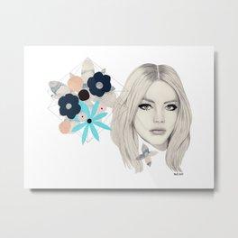 Floral/Geometric Metal Print