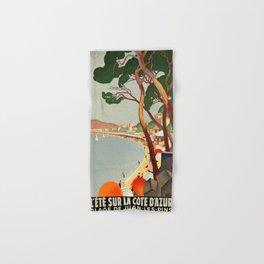 Vintage poster - Cote D'Azur, France Hand & Bath Towel