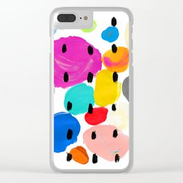 Bernard Pattern Clear iPhone Case
