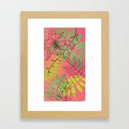 pop foliage Framed Art Print