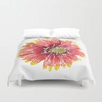 blanket Duvet Covers featuring Blanket Flower by Regan's World