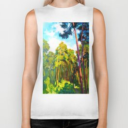 Whisper of pines Biker Tank