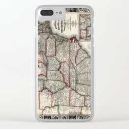 United States - Phelps's National map - 1852 Clear iPhone Case