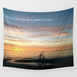 Multitude of Drops Wall Tapestry