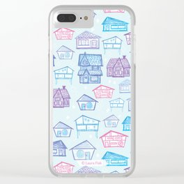 mid century houses home retro atomic cell phone case Clear iPhone Case