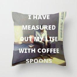 coffee spoons Throw Pillow