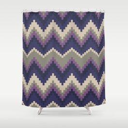 Jagged Violet Shower Curtain