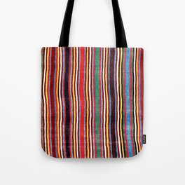 Qashqa'i Antique Fars Southwest Persia Striped Kilim Print Tote Bag
