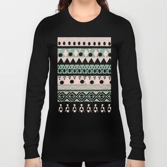 PASTEL NORDIC TRIBAL  Long Sleeve T-shirt