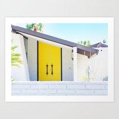 Yellow Door, Palm Springs Art Print