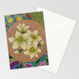 Jasmine Flower  Mandala  Stationery Cards