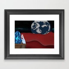 Sky Woman Taking A Break On Mars (The Red Planet) Framed Art Print