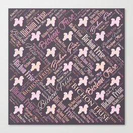 Bichon Frise Word Art Canvas Print