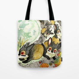 Moonlight (With Jackalopes) Tote Bag