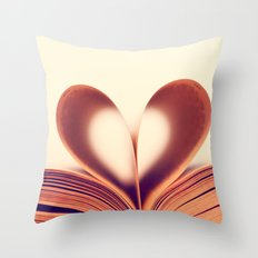 Book Lovers Throw Pillow