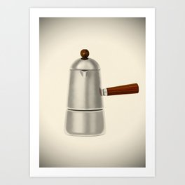 Carmencita. Vintage Italian coffee maker Art Print