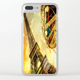 pariS. : Eiffel Tower & Ferris Wheel Clear iPhone Case