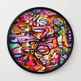 Crimson Navigators Wall Clock