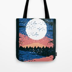 Starry Pixel Night Tote Bag