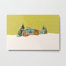 Holiday Snowy Home Metal Print