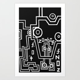 zombie. zone. Art Print
