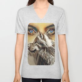 Spirit Of The Wolf Unisex V-Neck
