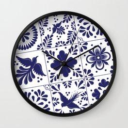 Talavera Mexican Tile Wall Clock