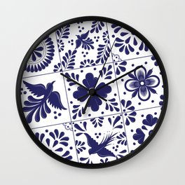 Talavera Mexican Tile Wall Clock
