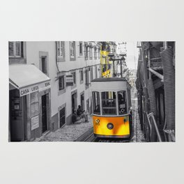 Lisbon Yellow Elevator Tram Rug
