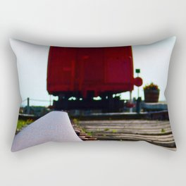 The track and the Train Rectangular Pillow