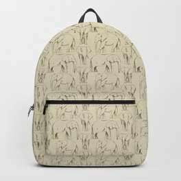Sketch Book Elephants Backpack