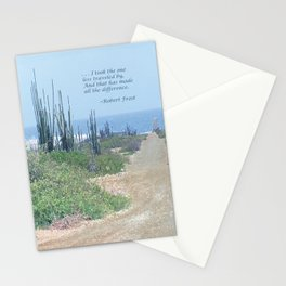 The Road Less Traveled (with quote) Stationery Cards