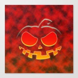 Screaming Pumpkin Canvas Print