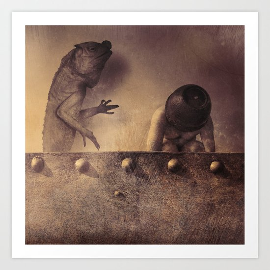 The Lizard Passes Judgment Art Print